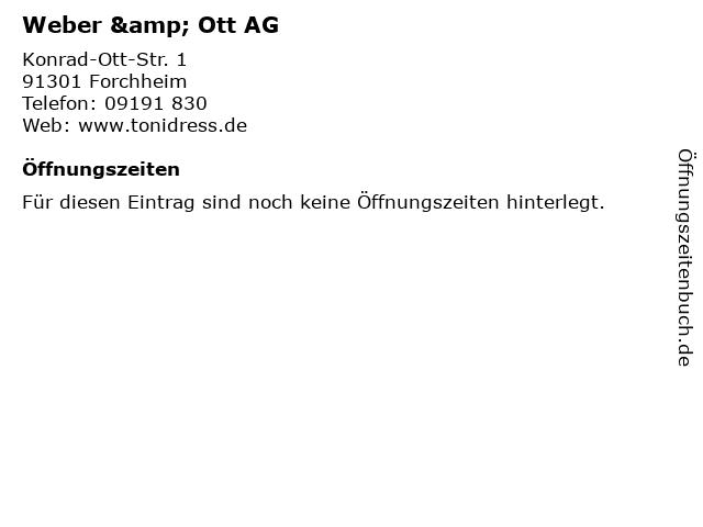 Weber & Ott AG in Forchheim: Adresse und Öffnungszeiten