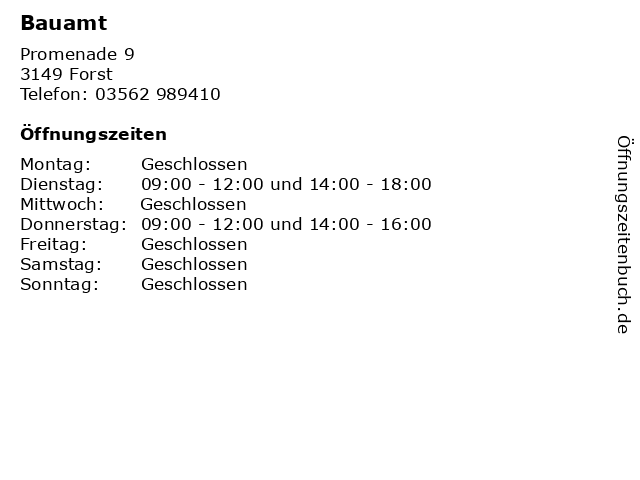 Bauamt in Forst: Adresse und Öffnungszeiten