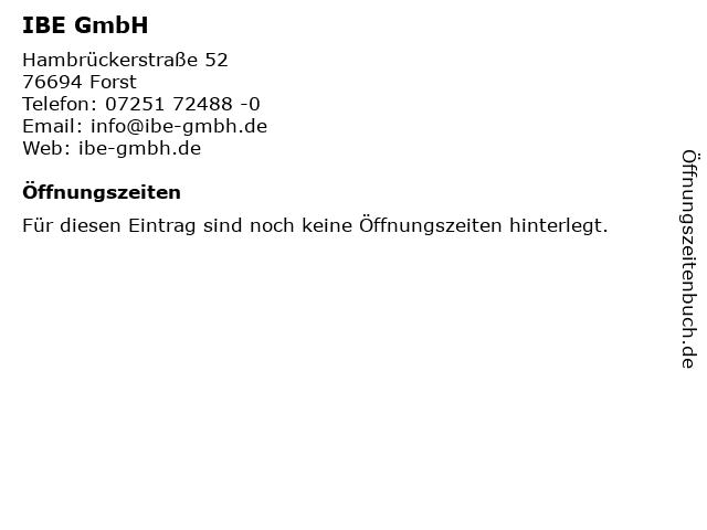 IBE GmbH in Forst: Adresse und Öffnungszeiten