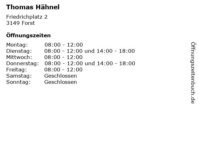 Thomas Hähnel in Forst: Adresse und Öffnungszeiten