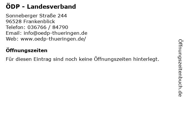 ÖDP - Landesverband in Frankenblick: Adresse und Öffnungszeiten