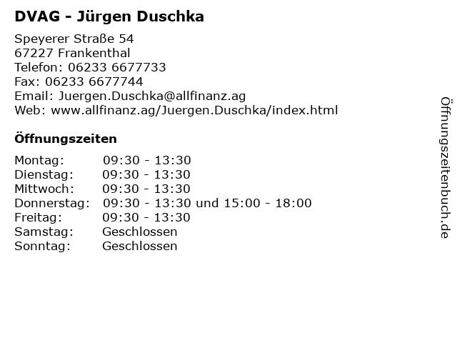 DVAG - Jürgen Duschka in Frankenthal: Adresse und Öffnungszeiten