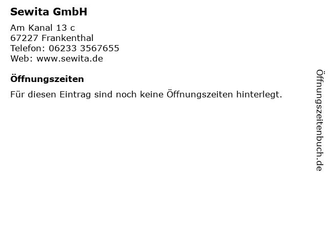 Sewita GmbH in Frankenthal: Adresse und Öffnungszeiten