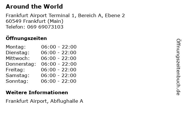 Around the World in Frankfurt (Main): Adresse und Öffnungszeiten