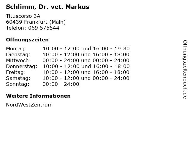 Schlimm, Dr. vet. Markus in Frankfurt (Main): Adresse und Öffnungszeiten