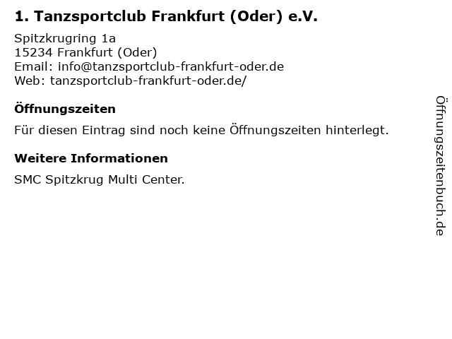 1. TSC Frankfurt (Oder) e.V. in Frankfurt (Oder): Adresse und Öffnungszeiten