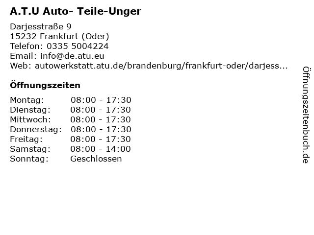 A.T.U Frankfurt (Oder) in Frankfurt (Oder): Adresse und Öffnungszeiten