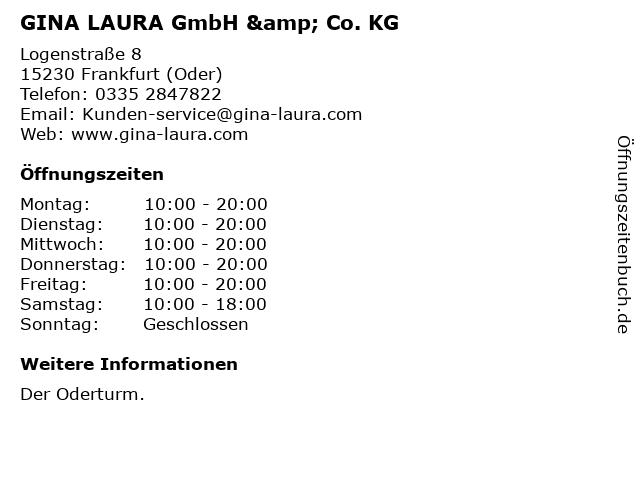 GINA LAURA GmbH & Co. KG in Frankfurt (Oder): Adresse und Öffnungszeiten