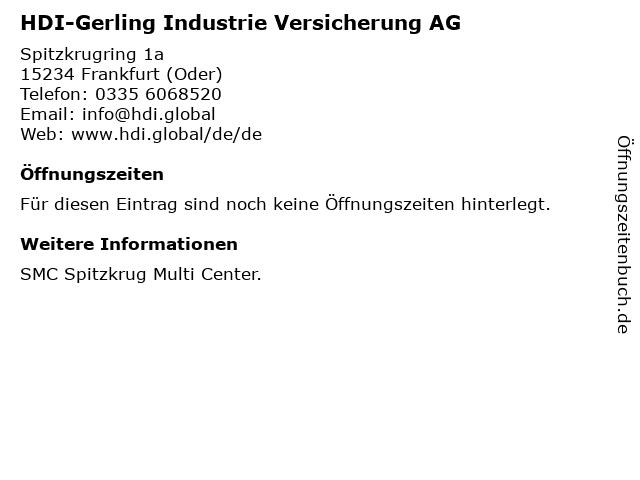 HDI-Gerling Industrie Versicherung AG in Frankfurt (Oder): Adresse und Öffnungszeiten