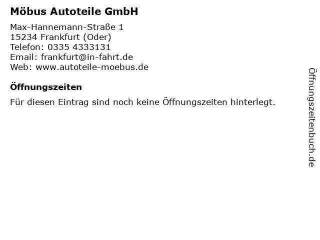 Möbus Autoteile GmbH in Frankfurt (Oder): Adresse und Öffnungszeiten