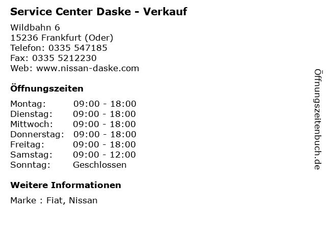Service Center Daske - Verkauf in Frankfurt (Oder): Adresse und Öffnungszeiten