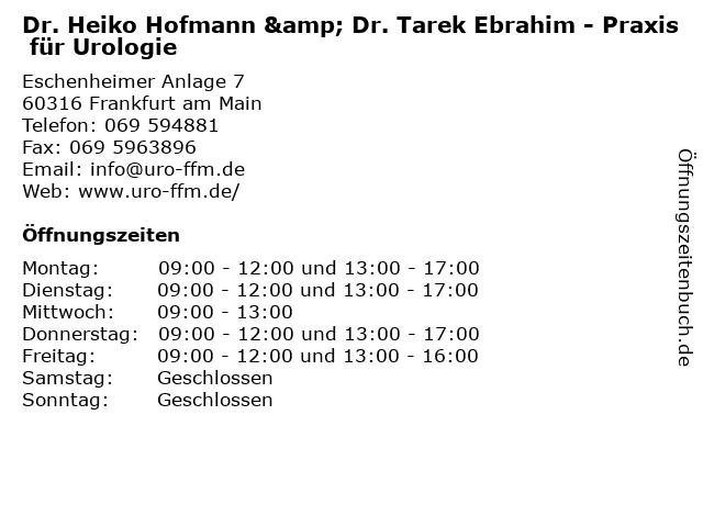 Dott./Universität Genua Michele Balducci in Frankfurt Am Main: Adresse und Öffnungszeiten