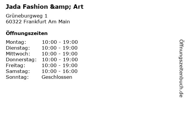 Jada Fashion & Art in Frankfurt Am Main: Adresse und Öffnungszeiten