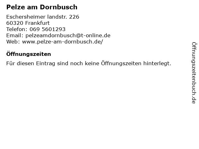 Pelze am Dornbusch in Frankfurt Am Main: Adresse und Öffnungszeiten