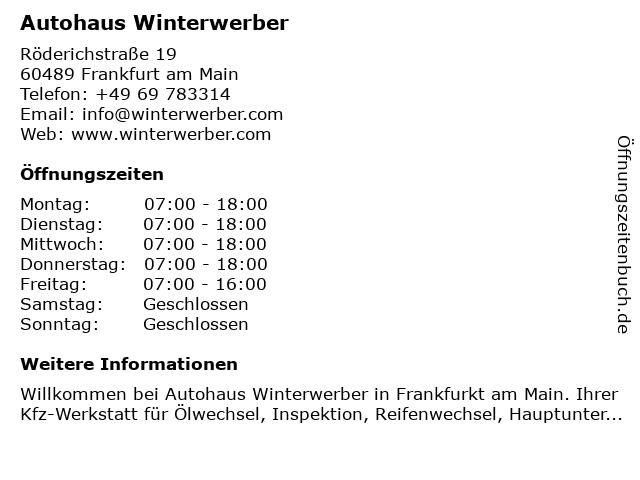 AutoAuto in Frankfurt: Adresse und Öffnungszeiten