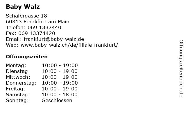 Baby Walz in Frankfurt am Main: Adresse und Öffnungszeiten