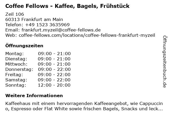 Coffee Fellows GmbH in Frankfurt am Main: Adresse und Öffnungszeiten