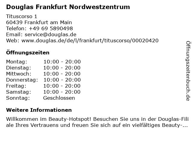 Parfümerie Douglas Frankfurt am Main in Frankfurt am Main: Adresse und Öffnungszeiten