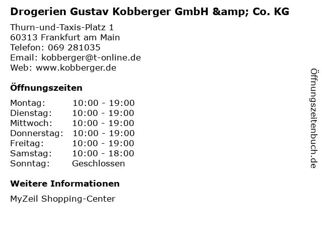 Drogerien Gustav Kobberger GmbH & Co. KG in Frankfurt am Main: Adresse und Öffnungszeiten