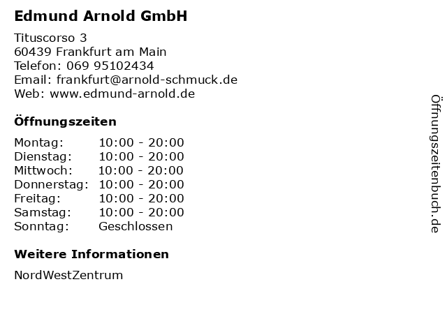 Edmund Arnold GmbH in Frankfurt am Main: Adresse und Öffnungszeiten