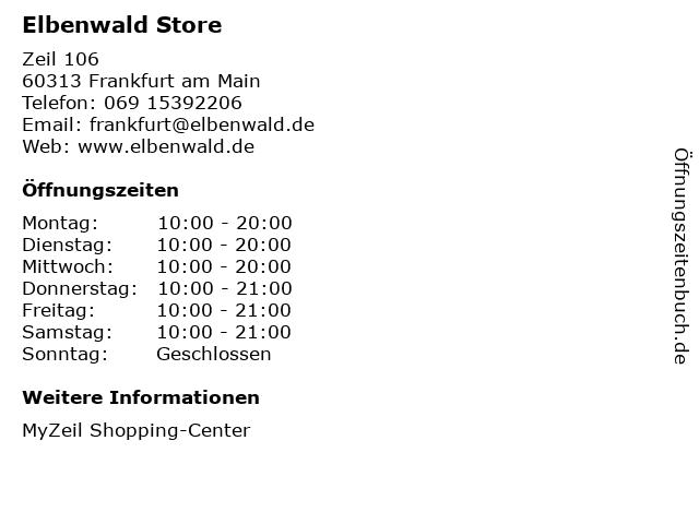 Elbenwald Store in Frankfurt am Main: Adresse und Öffnungszeiten