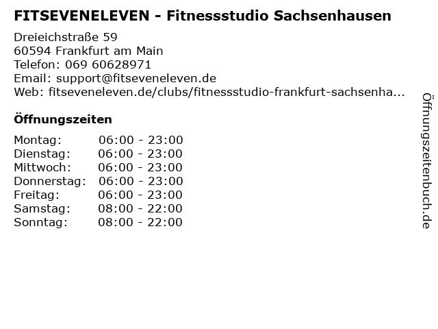 FITSEVENELEVEN - Fitnessstudio Sachsenhausen in Frankfurt am Main: Adresse und Öffnungszeiten