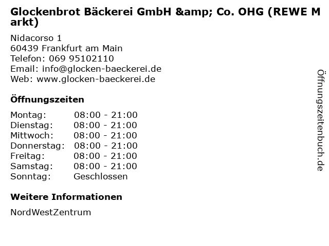Glockenbrot Bäckerei GmbH & Co. OHG (REWE Markt) in Frankfurt am Main: Adresse und Öffnungszeiten
