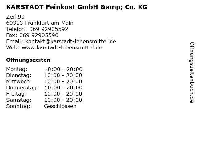 KARSTADT Feinkost GmbH & Co. KG in Frankfurt am Main: Adresse und Öffnungszeiten