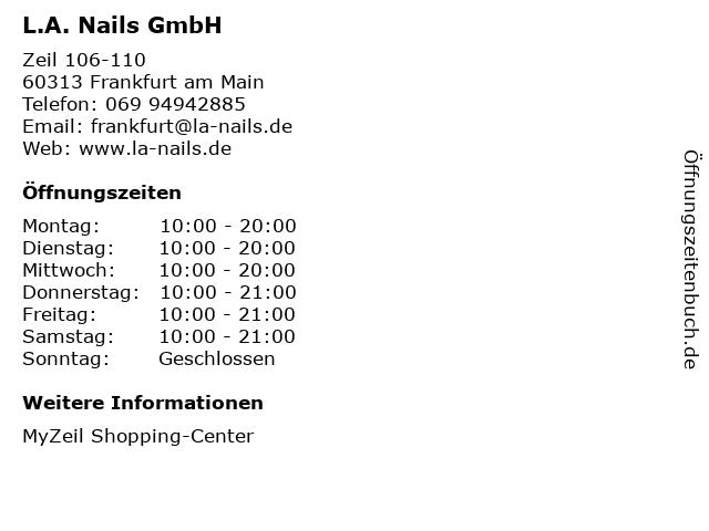 L.A. Nails GmbH in Frankfurt am Main: Adresse und Öffnungszeiten