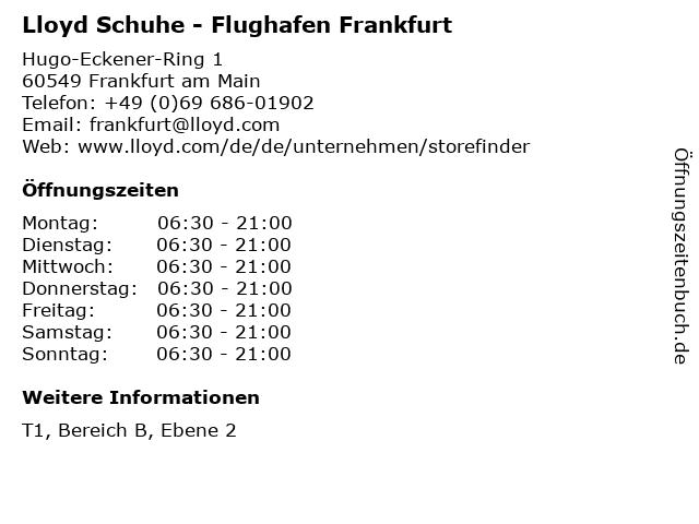 """premium selection the latest 100% quality ᐅ Öffnungszeiten """"Lloyd Schuhe - Flughafen Frankfurt ..."""