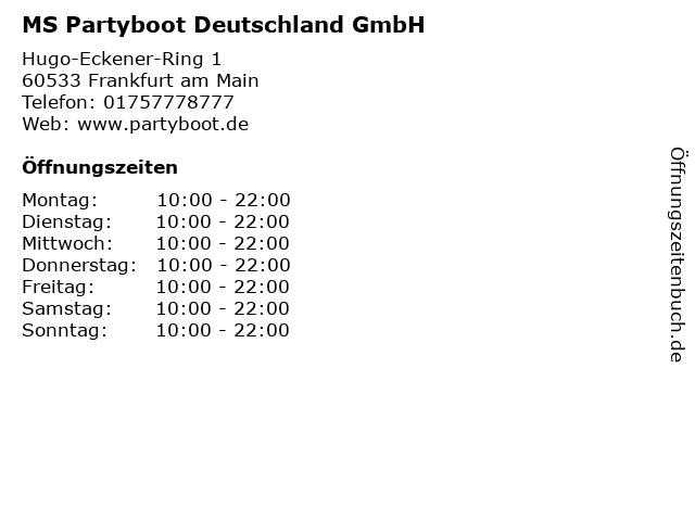 9b815c22c62ddf Bilder zu MS Partyboot Deutschland GmbH in Frankfurt am Main