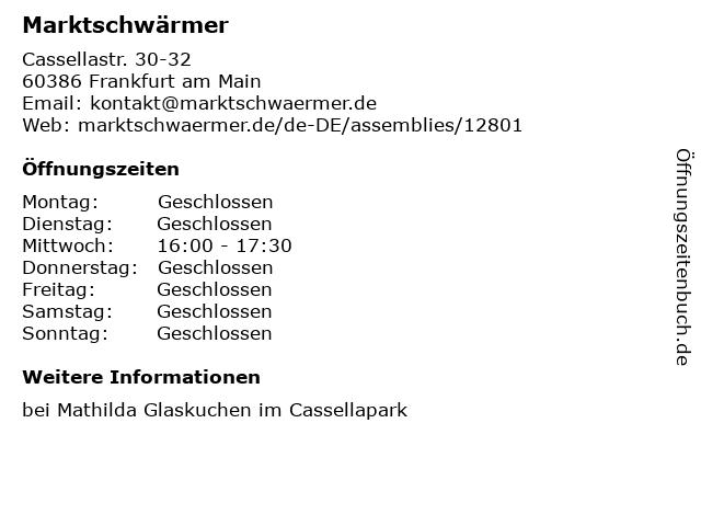 Marktschwärmer in Frankfurt am Main: Adresse und Öffnungszeiten