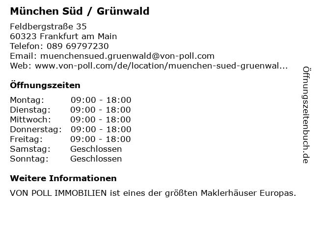 von Poll Immobilien - Immobilienshop Thomas Utecht in Grünwald: Adresse und Öffnungszeiten