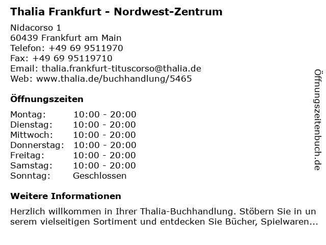 Thalia Frankfurt - Nordwest-Zentrum in Frankfurt am Main: Adresse und Öffnungszeiten