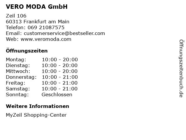 VERO MODA GmbH in Frankfurt am Main: Adresse und Öffnungszeiten