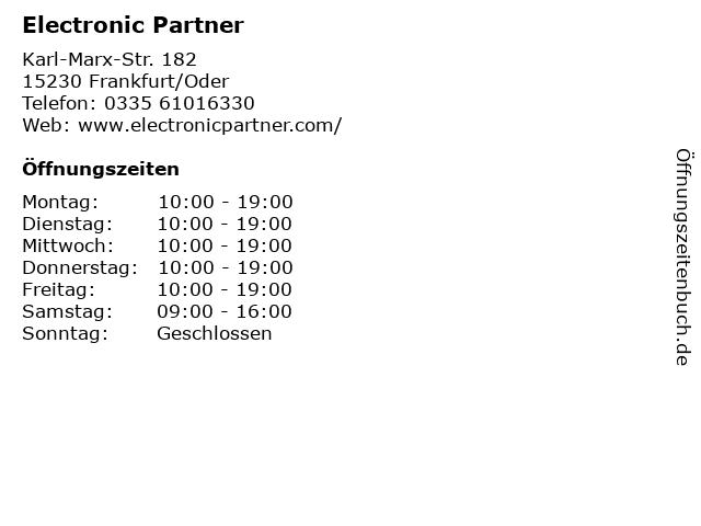 Electronic Partner in Frankfurt/Oder: Adresse und Öffnungszeiten