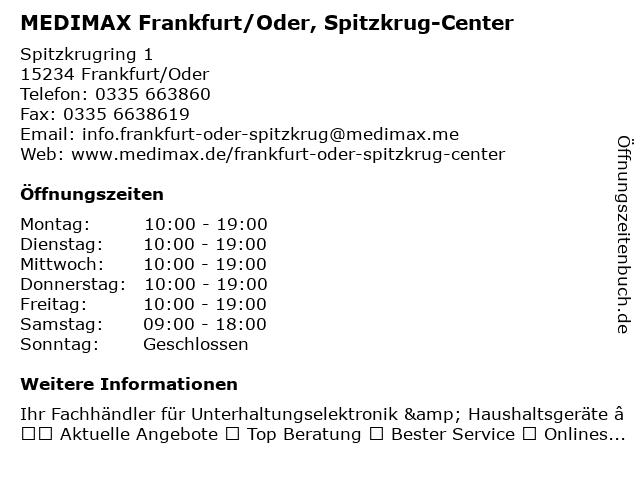 MediMax Electronic Frankfurt/Oder GmbH in Frankfurt (Oder): Adresse und Öffnungszeiten