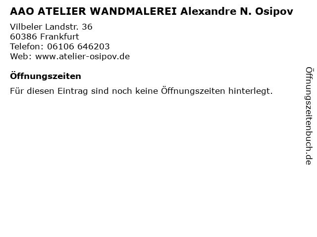 AAO ATELIER WANDMALEREI Alexandre N. Osipov in Frankfurt: Adresse und Öffnungszeiten