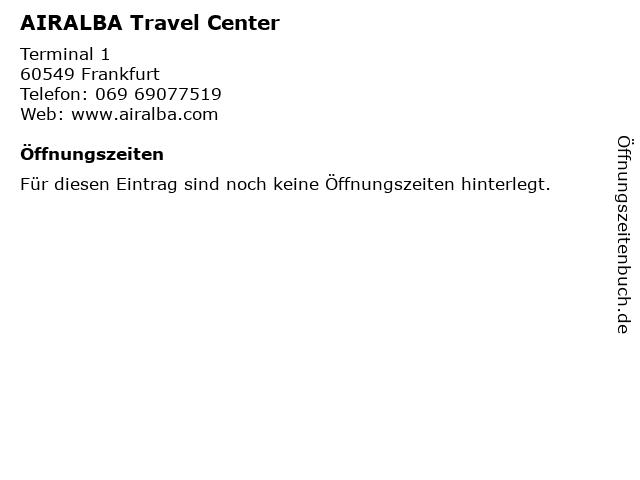 AIRALBA Travel Center in Frankfurt: Adresse und Öffnungszeiten