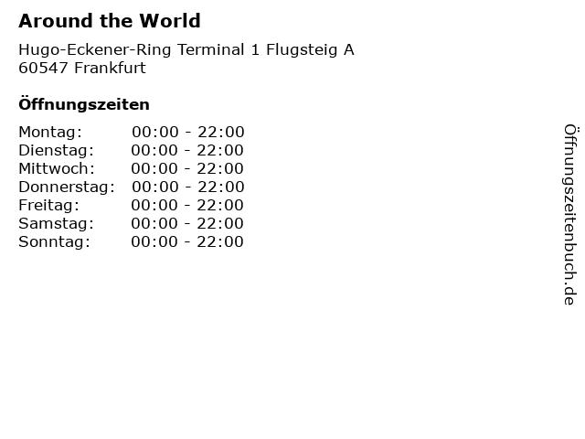 Around the World in Frankfurt: Adresse und Öffnungszeiten