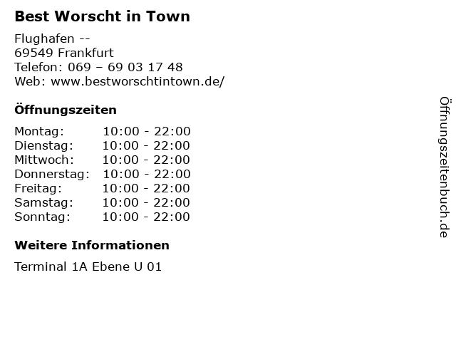 Best Worscht in Town in Frankfurt: Adresse und Öffnungszeiten