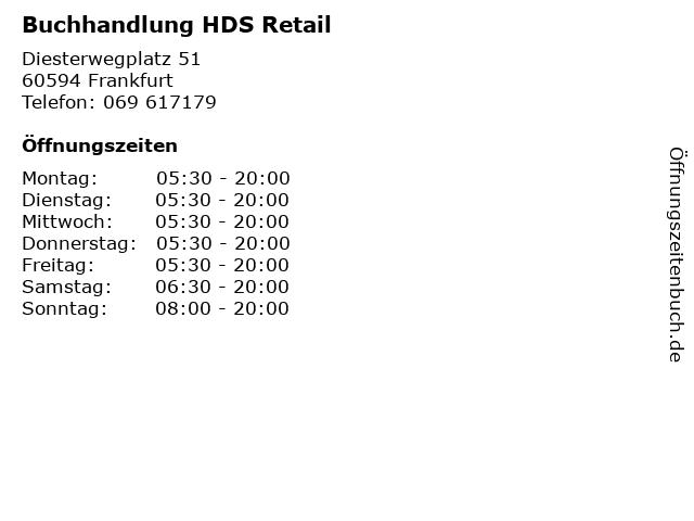 Buchhandlung HDS Retail in Frankfurt: Adresse und Öffnungszeiten