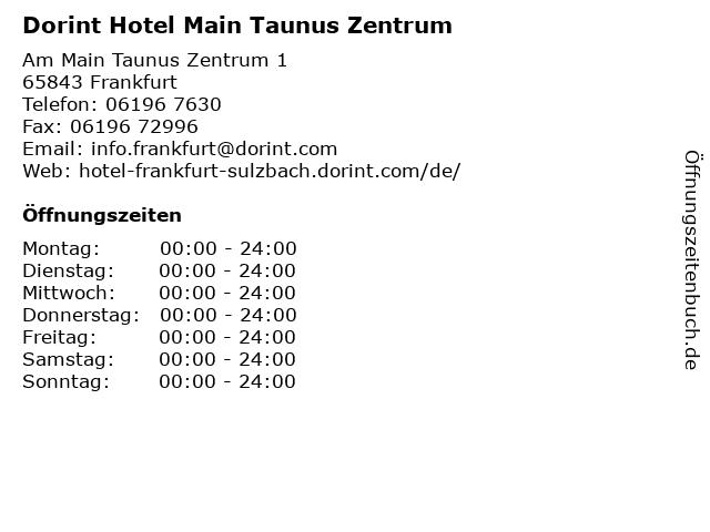 Dorint Hotel Main Taunus Zentrum in Frankfurt: Adresse und Öffnungszeiten