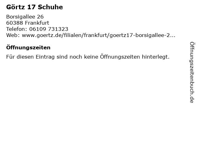 Görtz 17 GmbH in Frankfurt am Main: Adresse und Öffnungszeiten