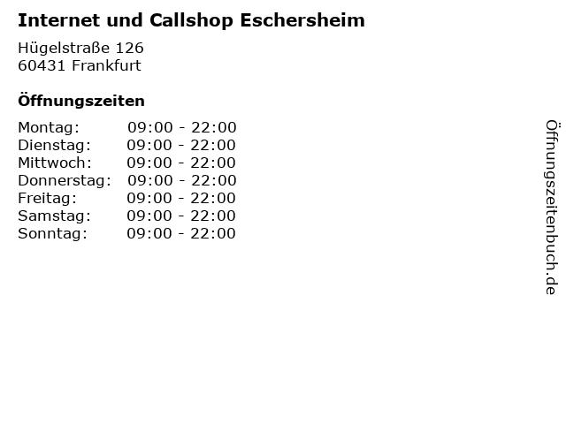 Internet und Callshop Eschersheim in Frankfurt: Adresse und Öffnungszeiten