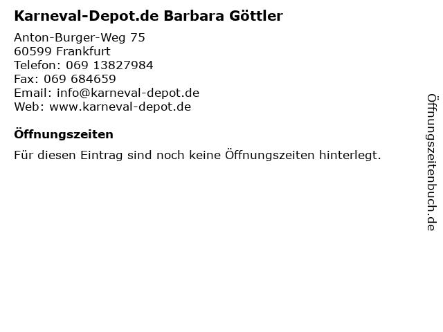 ᐅ öffnungszeiten Karneval Depotde Barbara Göttler Anton Burger