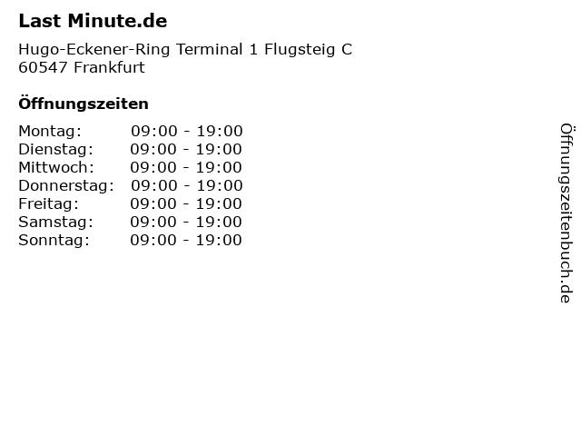 Last Minute.de in Frankfurt: Adresse und Öffnungszeiten