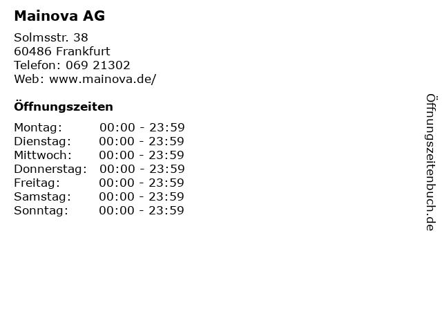 Mainova AG in Frankfurt: Adresse und Öffnungszeiten