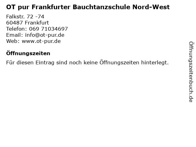 OT pur Frankfurter Bauchtanzschule Nord-West in Frankfurt: Adresse und Öffnungszeiten