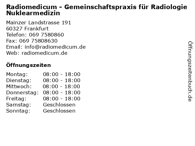 radiologie mainzer landstraße frankfurt